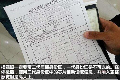 驾驶证换证体检项目